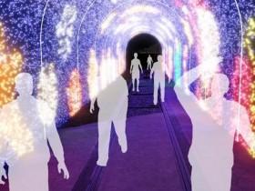 浪漫櫻花投影大道、巨型聖誕樹點亮淡水!結合科技藝術 燈飾一路點亮到新年!