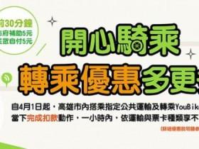 【高雄YouBike2.0 / MeNGo月票優惠】學生199元暢遊公車,再享30分鐘免費單車租借!LinePay支付新上線、月月再抽Switch/五星自助餐券!