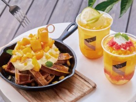 黑浮咖啡外帶飲品送芒果冰淇淋鬆餅!美式咖啡、經典拿鐵來店外帶買一送二!