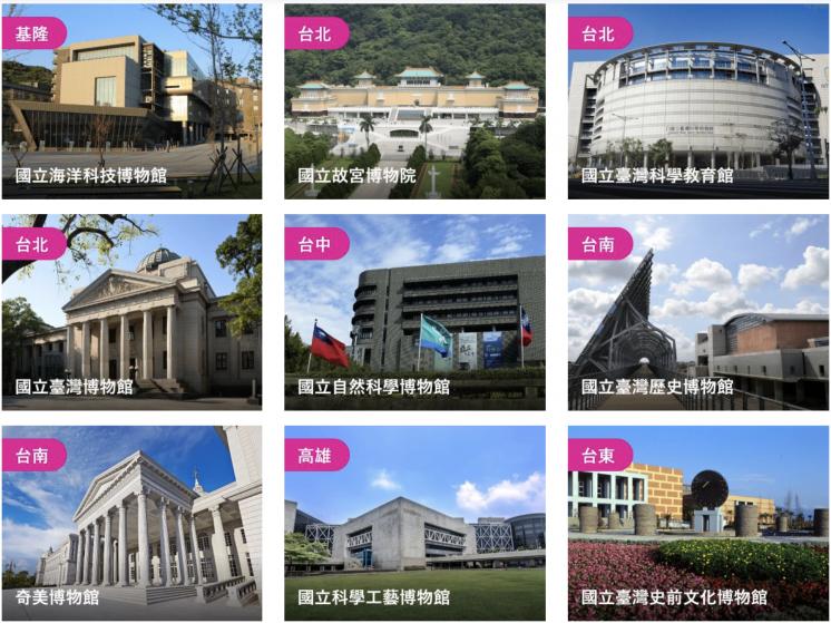 愛台灣博物館卡核心館所