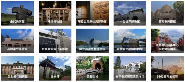 愛台灣博物館卡聯盟館所
