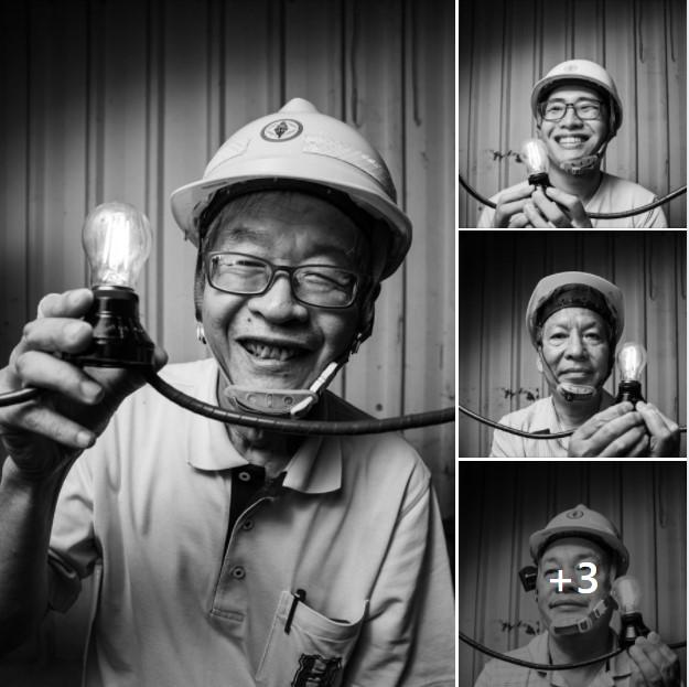白晝之夜台電工作人員肖像圖