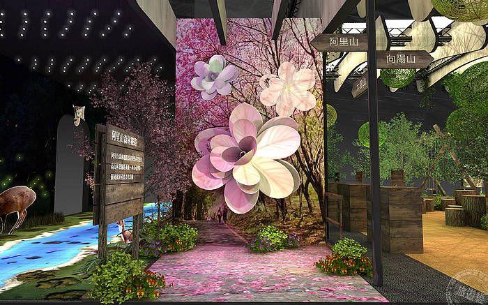 國家森林館2020ITF旅展-花季吉野櫻造型牆
