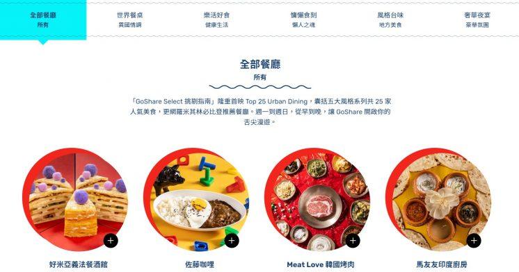 GoShare Select 餐廳圖