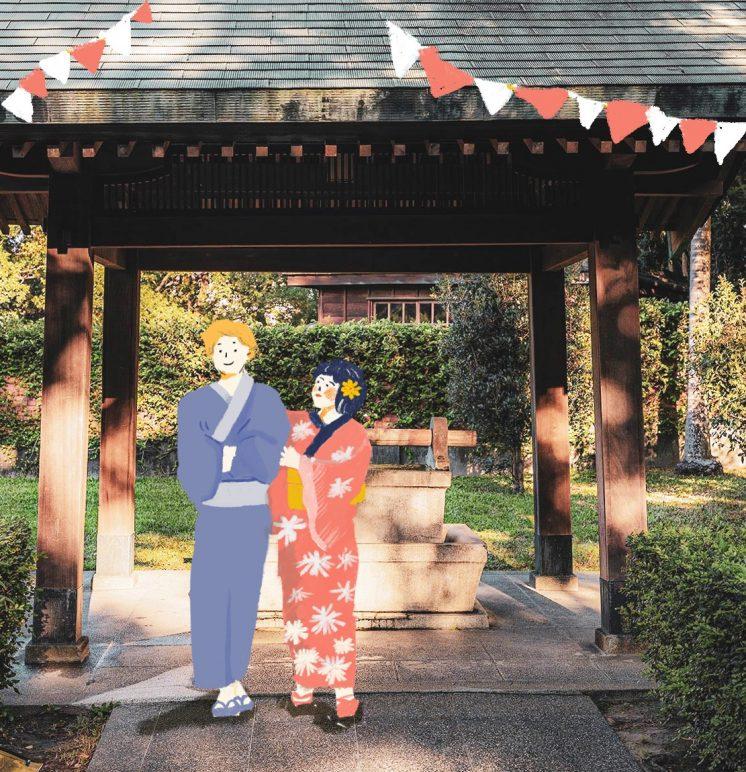 藏仙神社市集 浴衣