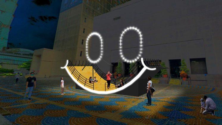 信義區東門廣場「微笑方舟—微笑生活.和你一起」