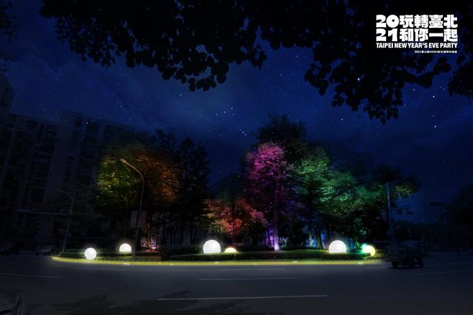 松山民生公園燈飾