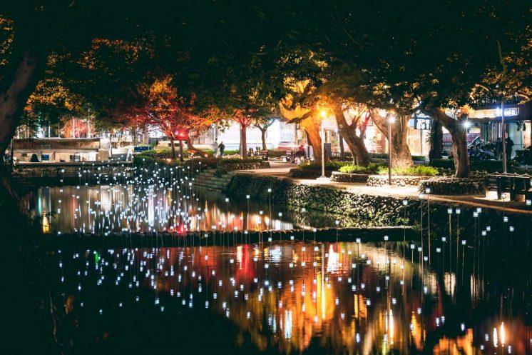 新竹燈會光訊粼河螢火蟲