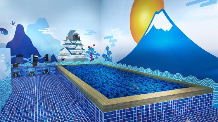 2018色廊展_藍色球池澡堂