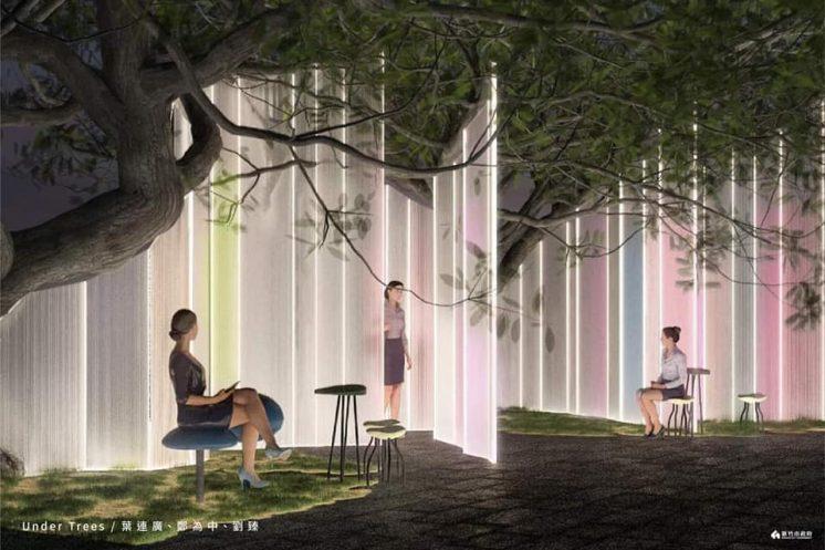 2021新竹燈會under trees