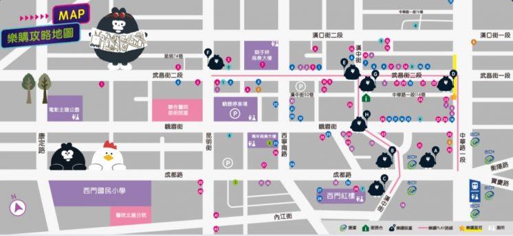 西門PLAY 樂購地圖(近)