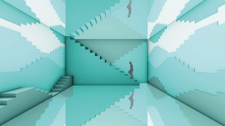 冰湖綠的無盡階梯