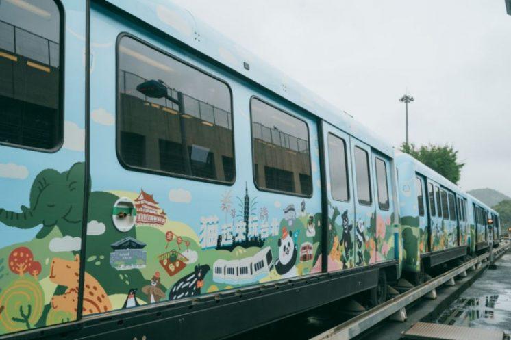 猫起來玩台北觀光彩繪列車