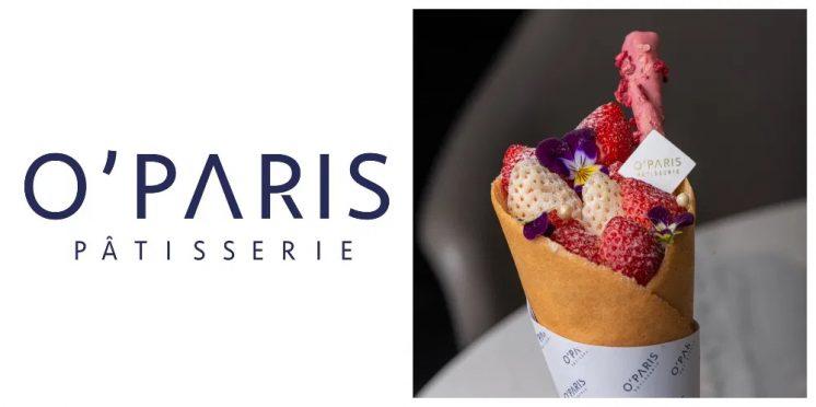 O'PARIS 法式甜點:法式貓舌白草莓甜筒