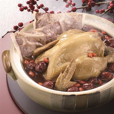 雙月靈芝首烏燉土雞湯