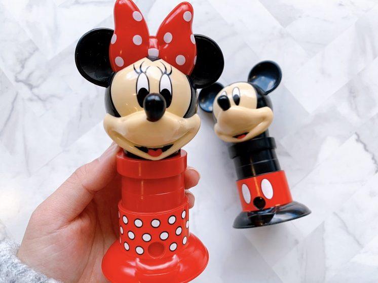 迪士尼米奇米妮肖像造型轉糖食玩