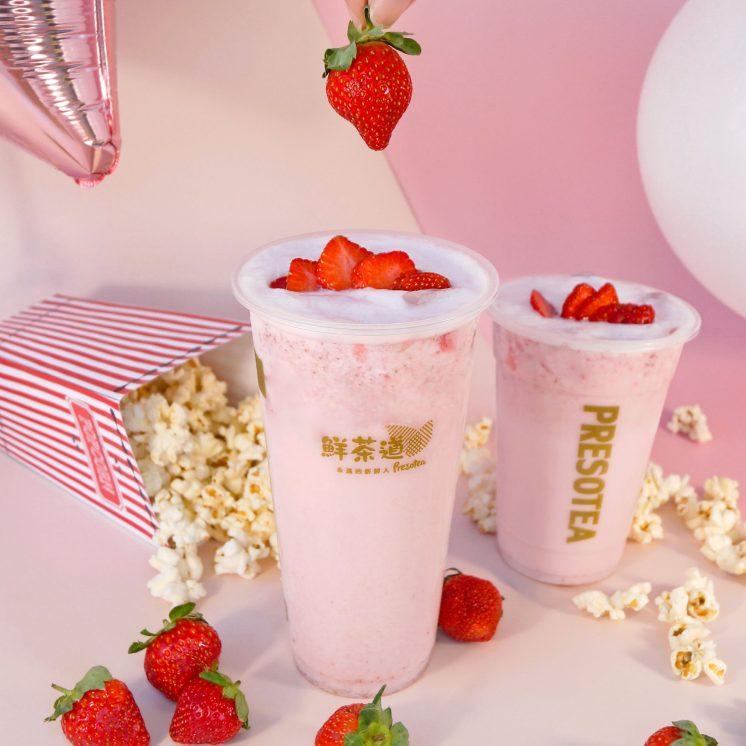 鮮茶道:草莓歐蕾、草莓奶蓋
