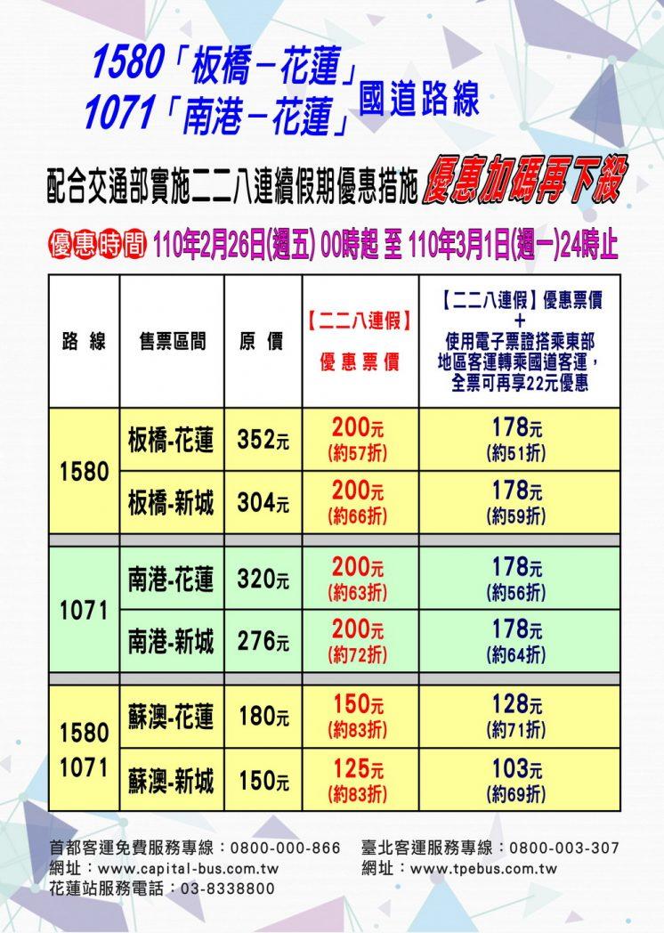 台北客運228連假優惠