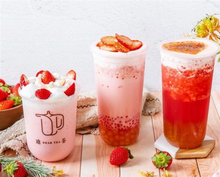 迪茶DEARTEA「草莓季飲品」