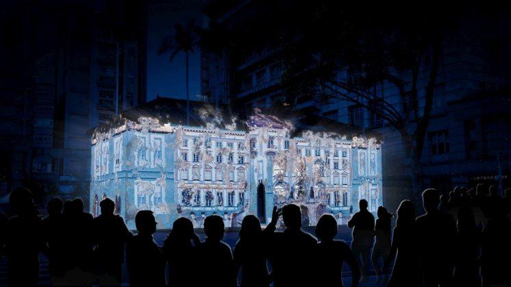 新竹市美術館光雕投影模擬效果圖