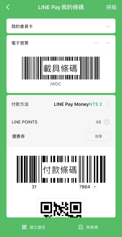 LINE Pay Money 付款碼