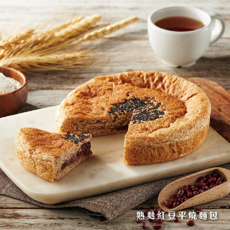岩島成_熟麩紅豆平燒麵包