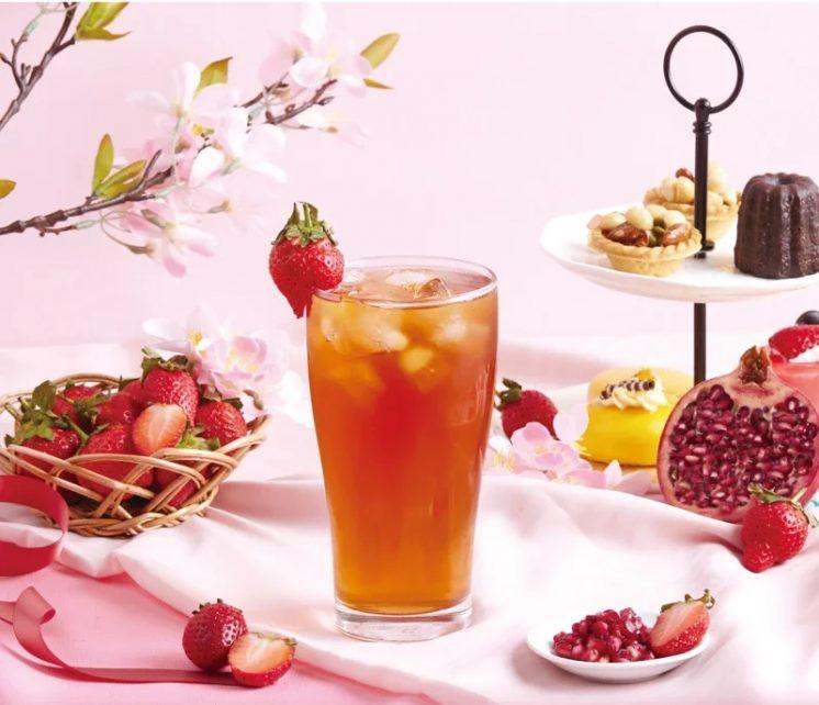 冰紅石榴草莓風味紅茶