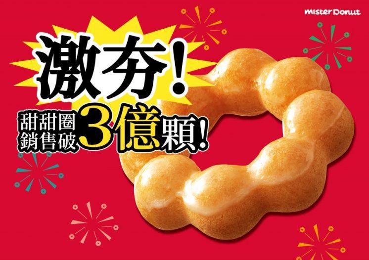 甜甜圈3億顆