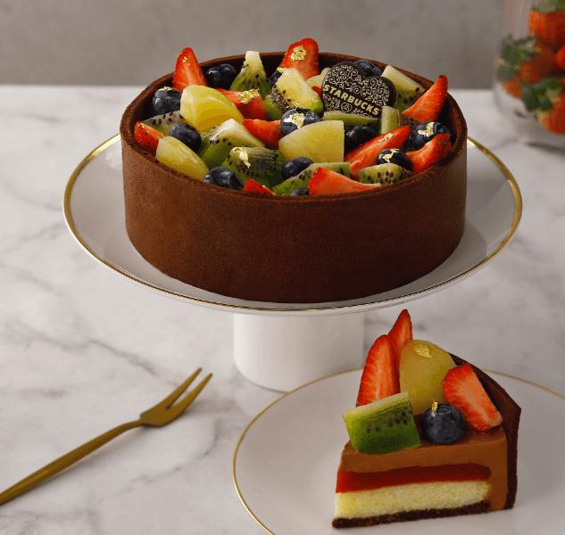 星巴克_繽紛水果巧克力蛋糕
