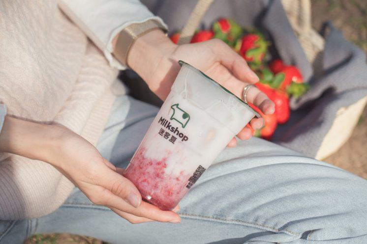 草莓庫莉鮮奶