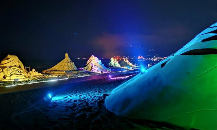 福隆沙雕藝術季夜間點燈