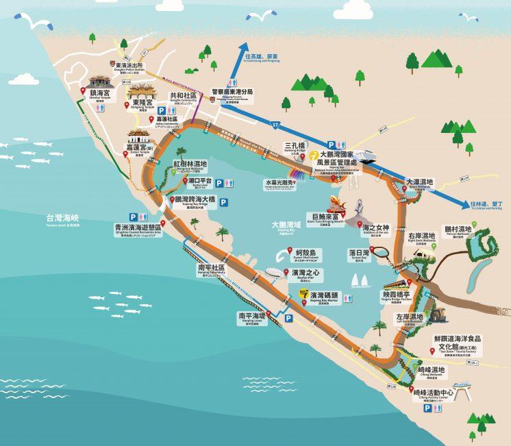 大鵬灣地圖