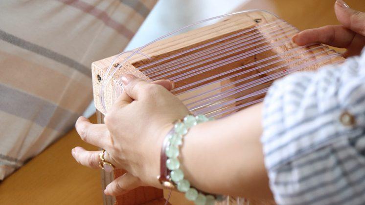 魚線椅編織