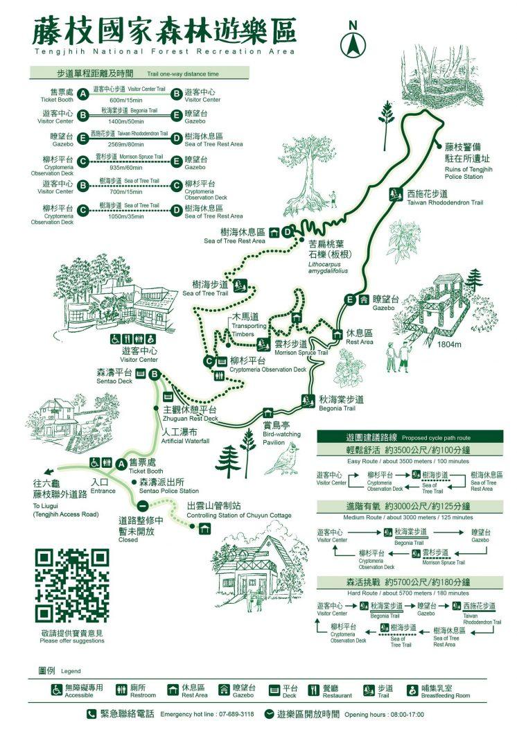 藤枝森林遊樂區地圖