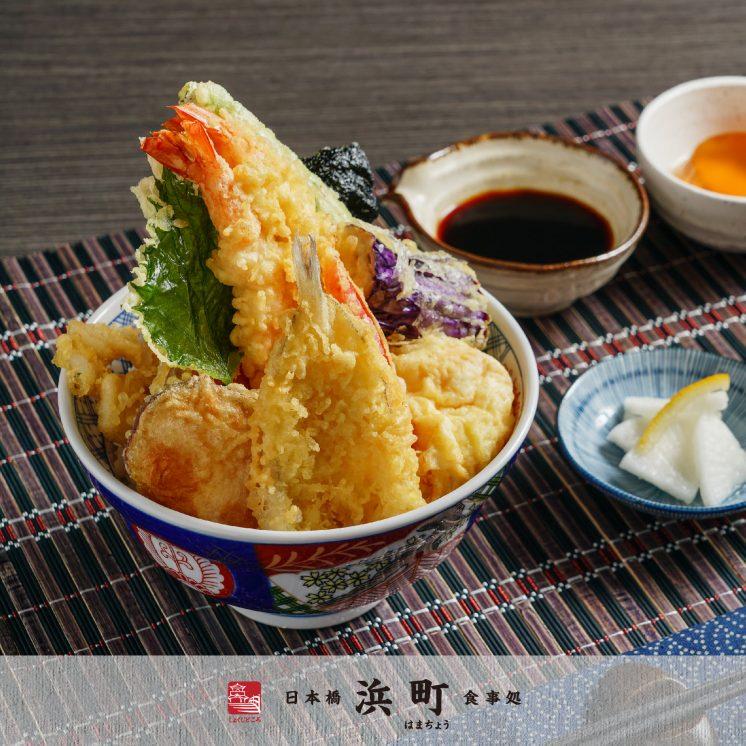 喜魚干貝大蝦盛合海鮮天丼定食