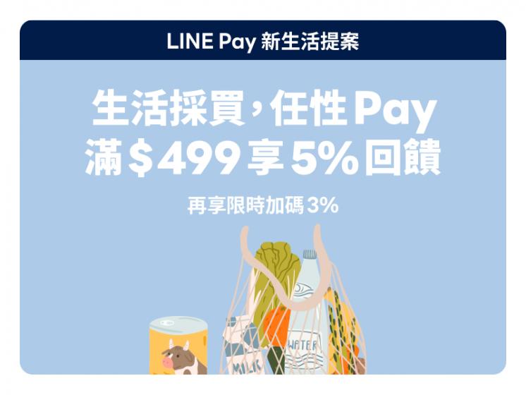 指定傳統市場/超市/生活百貨 x LINE Pay