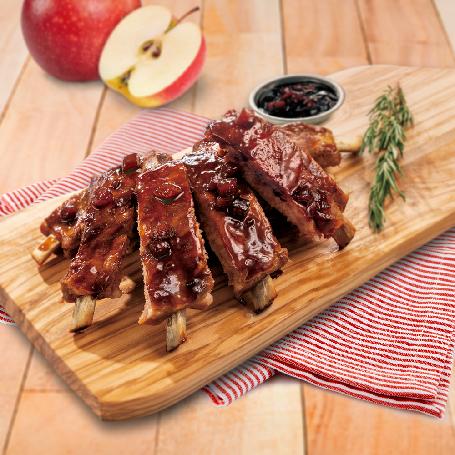 kklife蜂蜜蘋果醬烤豬肋排