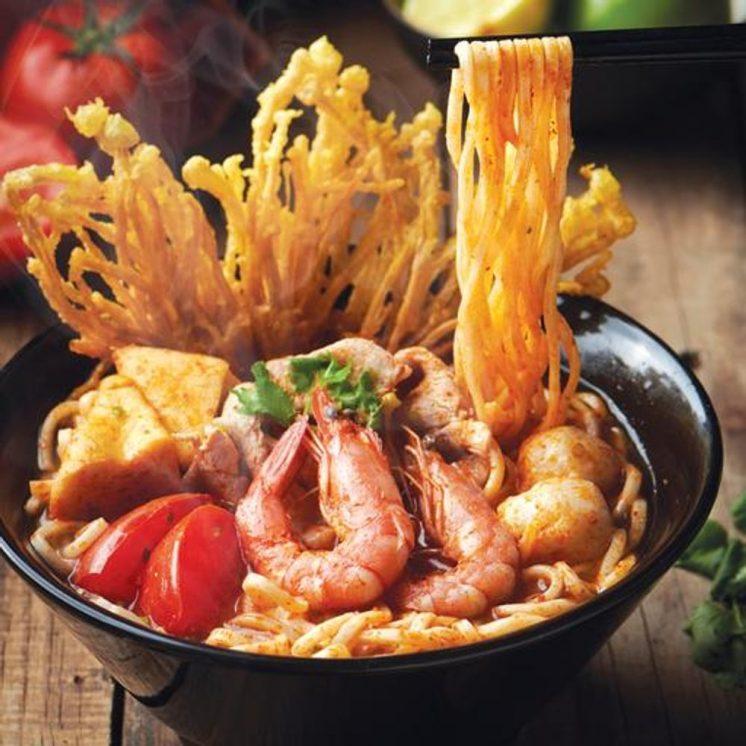 大心酸辣海鮮麵