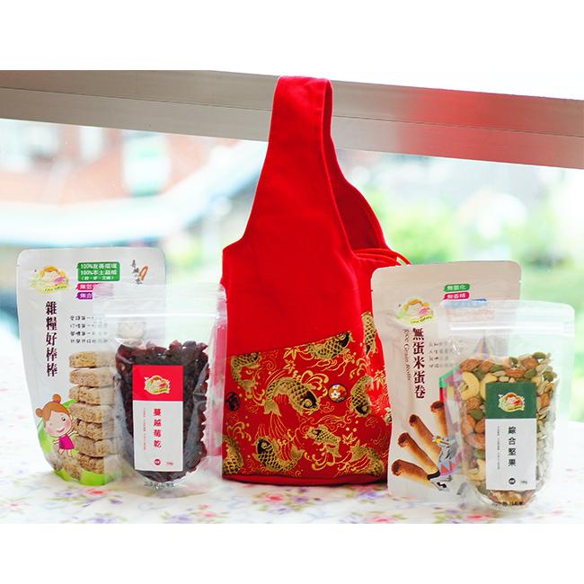 集賢庇護工場端午金魚花包手提袋