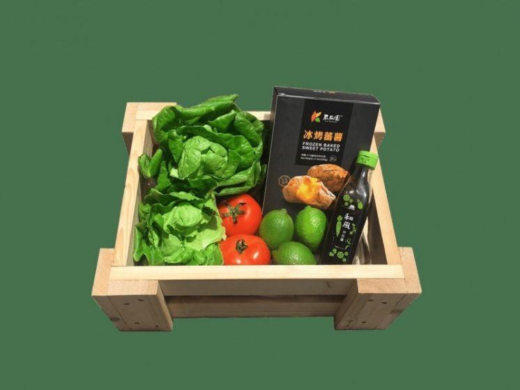 摩斯蔬菜袋著走