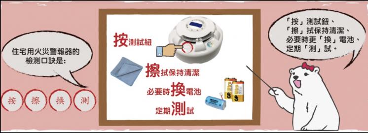 火災警報器安裝方式日常測試