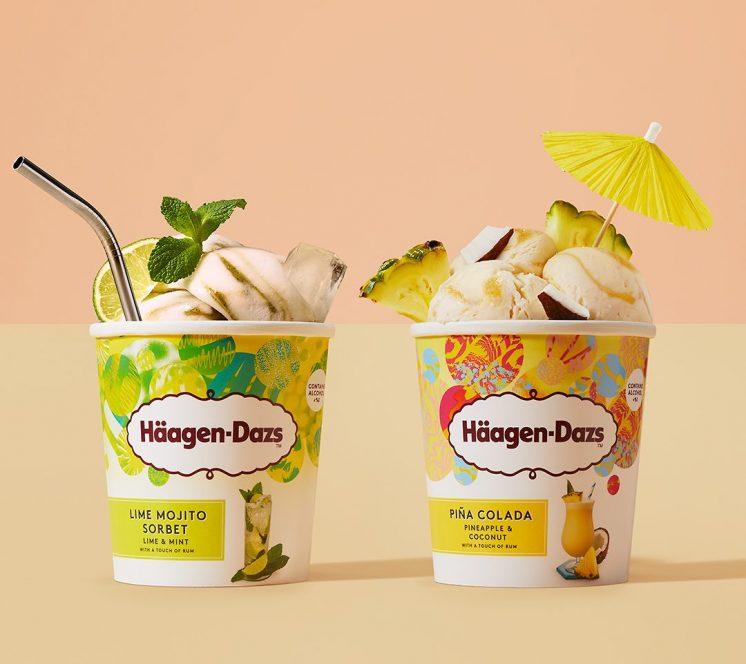 哈根達斯萊姆莫西朵調酒冰淇淋鳳梨.可樂達調冰淇淋