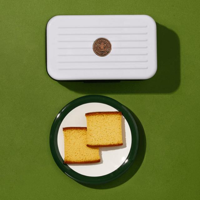 星巴克蜂蜜蛋糕脆餅極光白收納包