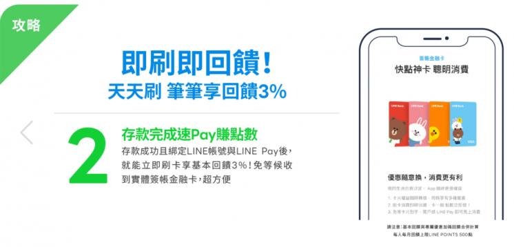 LINE Bank一般消費加碼回饋