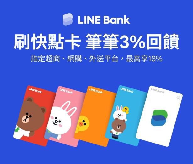 LINE Bank快點卡優惠
