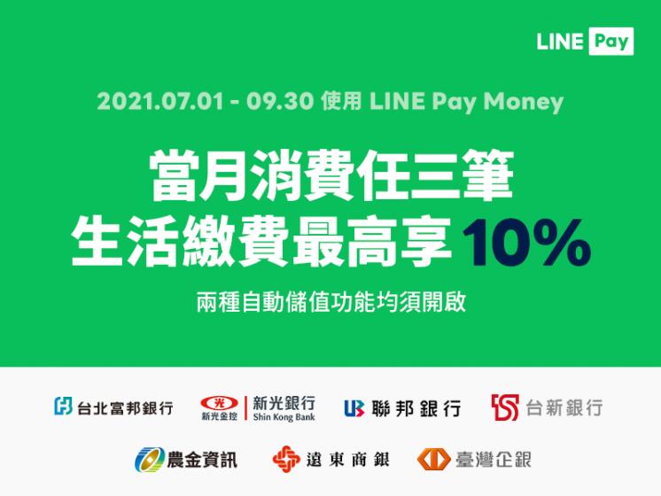 LINE Pay Money生活繳費優惠