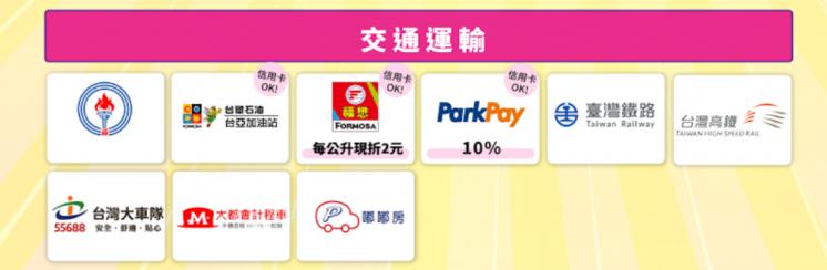 台灣Pay_適用交通運輸